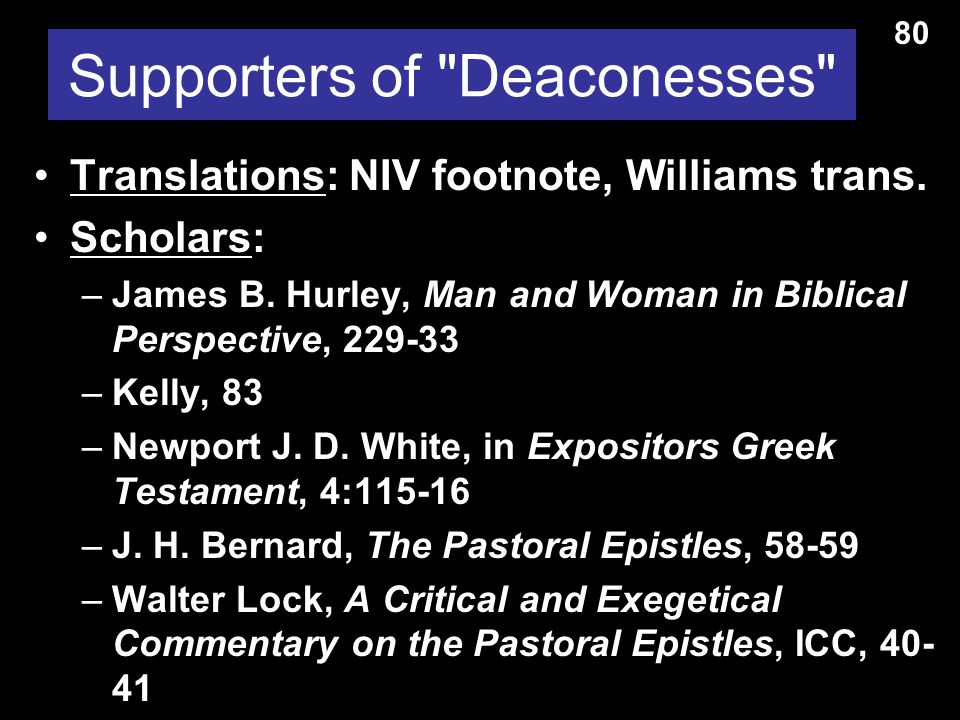 Supporters of Deaconesses