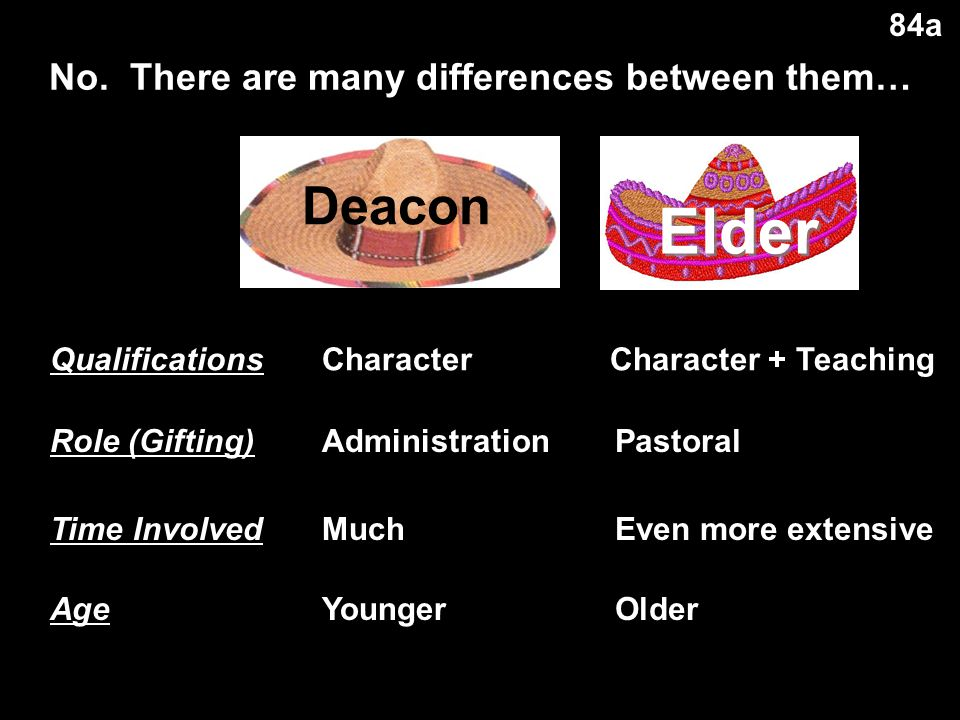 Elder-Deacon Contrasts