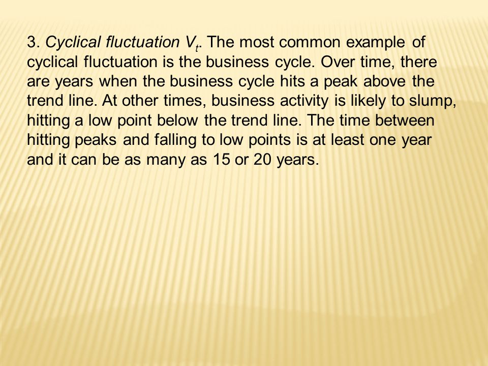 3. Cyclical fluctuation Vt
