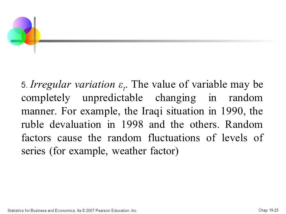 5. Irregular variation εt