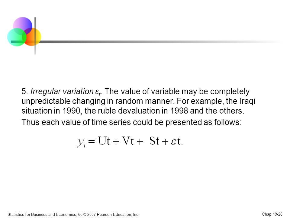 Thus each value of time series could be presented as follows: