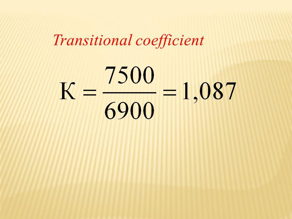 Transitional coefficient