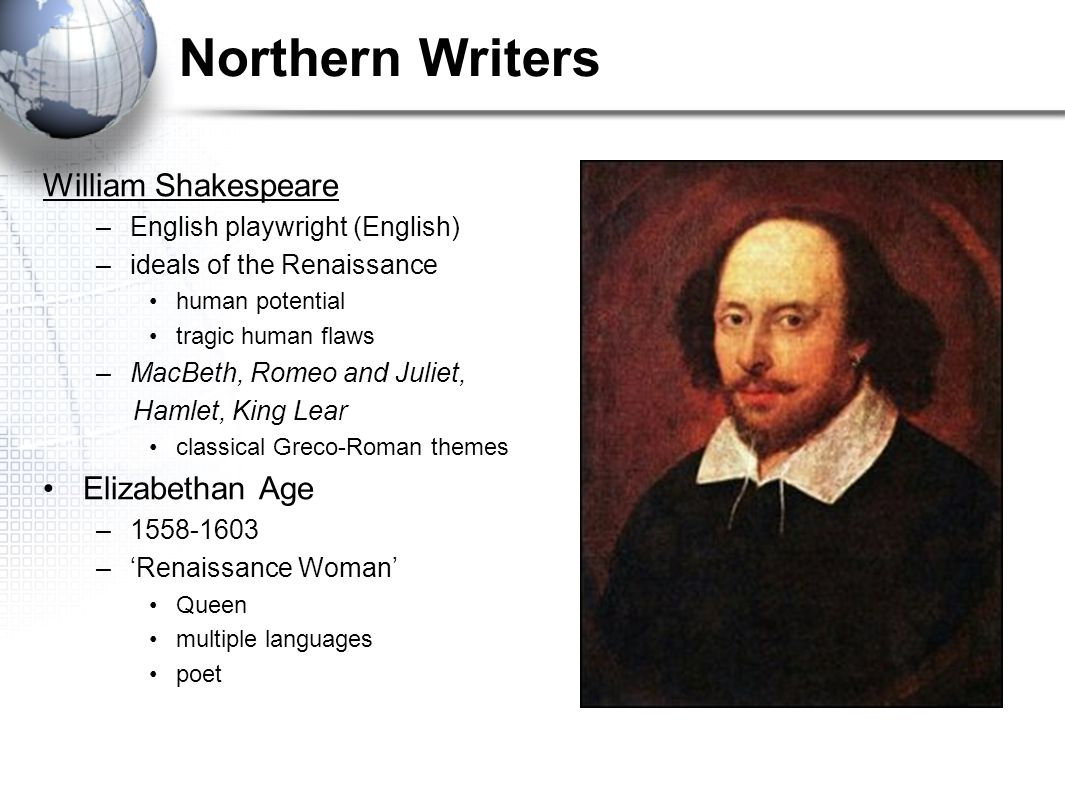 Northern Writers William Shakespeare Elizabethan Age