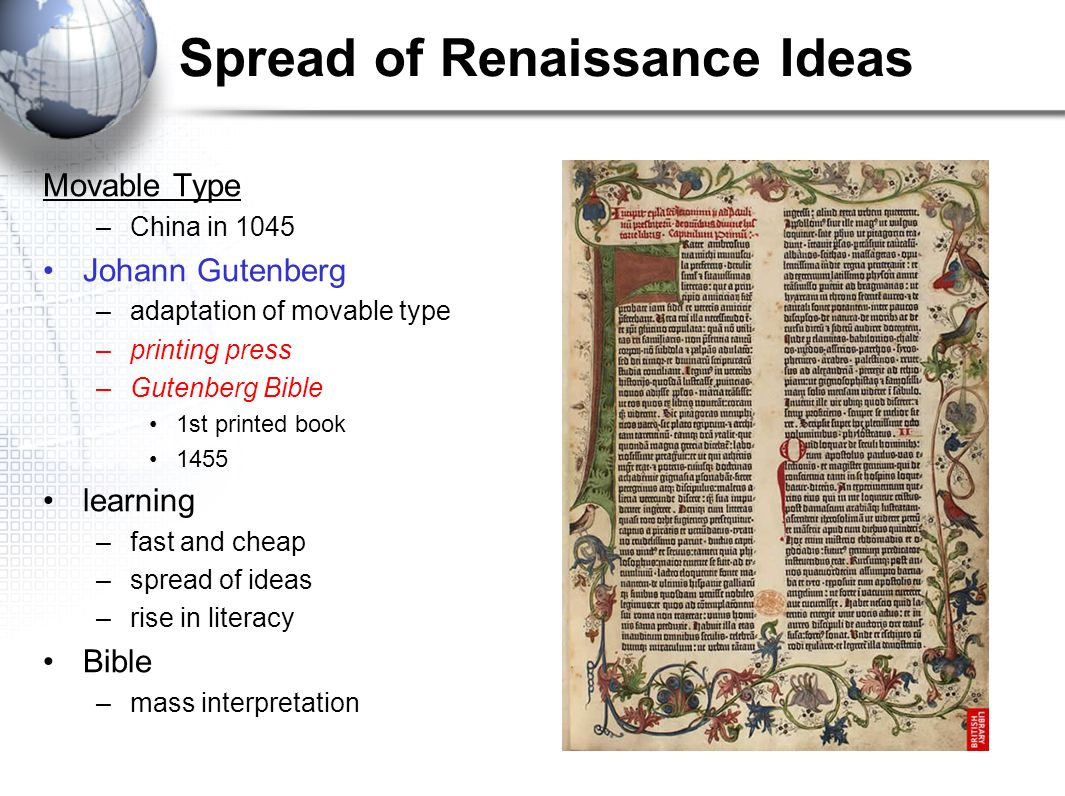 Spread of Renaissance Ideas