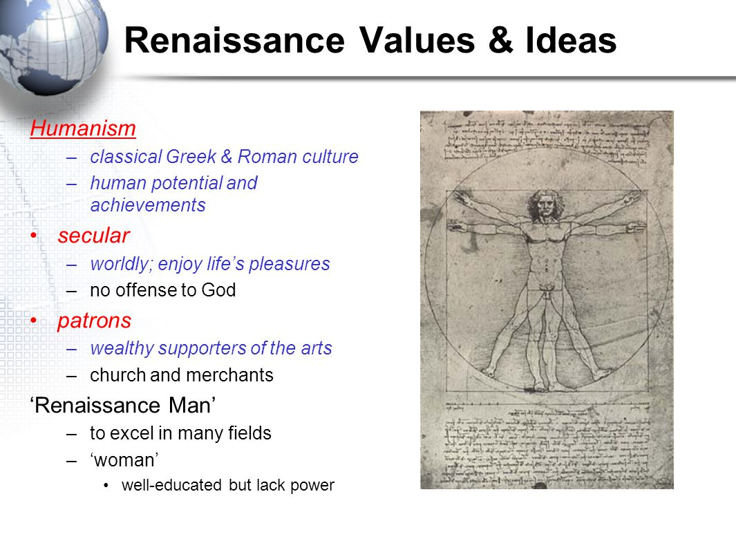 Renaissance Values & Ideas