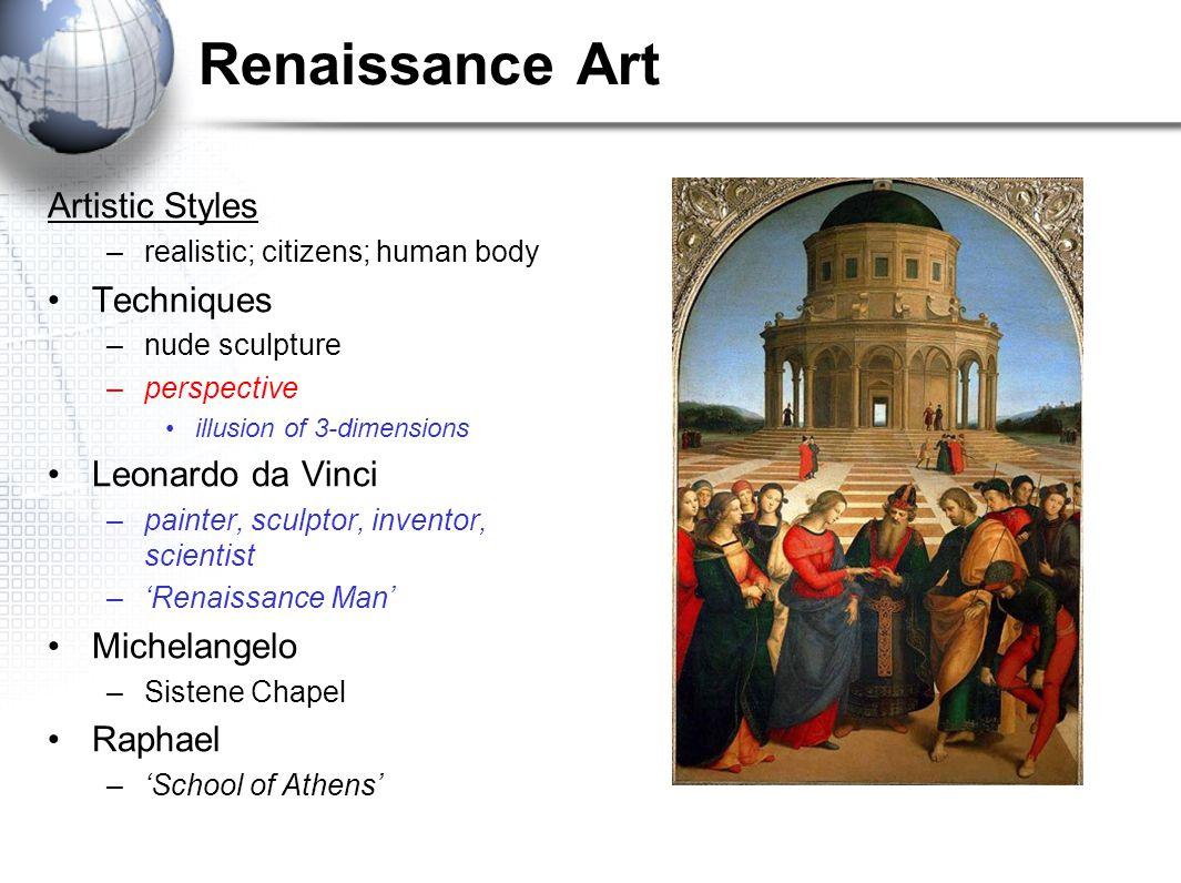 Renaissance Art Artistic Styles Techniques Leonardo da Vinci