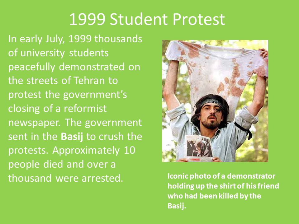 1999 Student Protest
