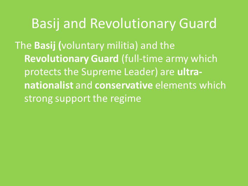 Basij and Revolutionary Guard