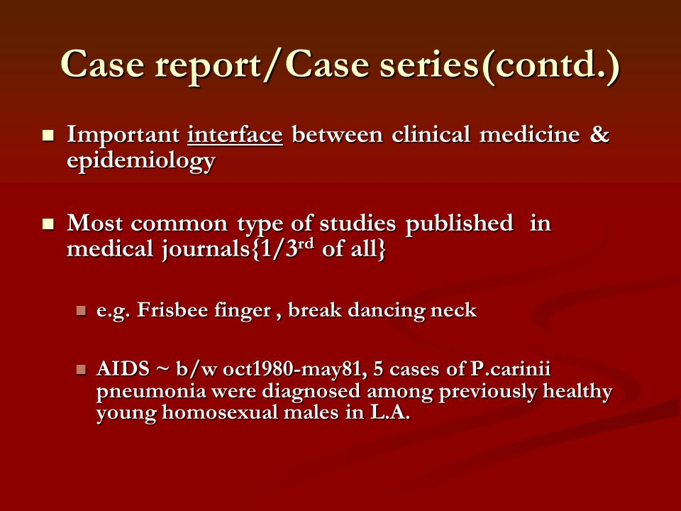 Case report/Case series(contd.)