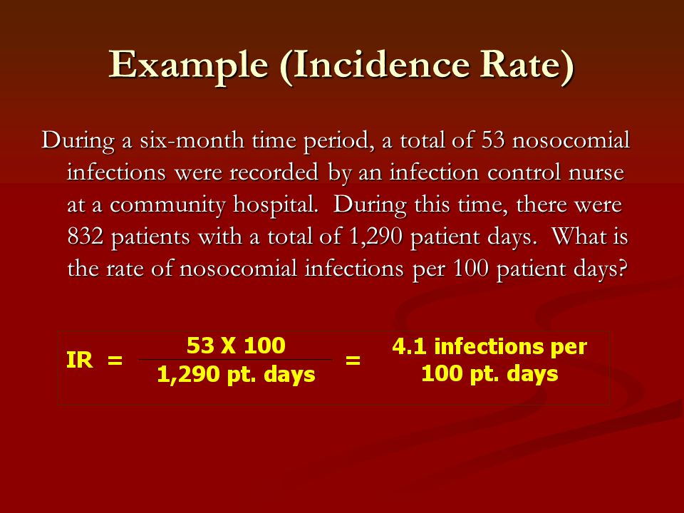 Example (Incidence Rate)