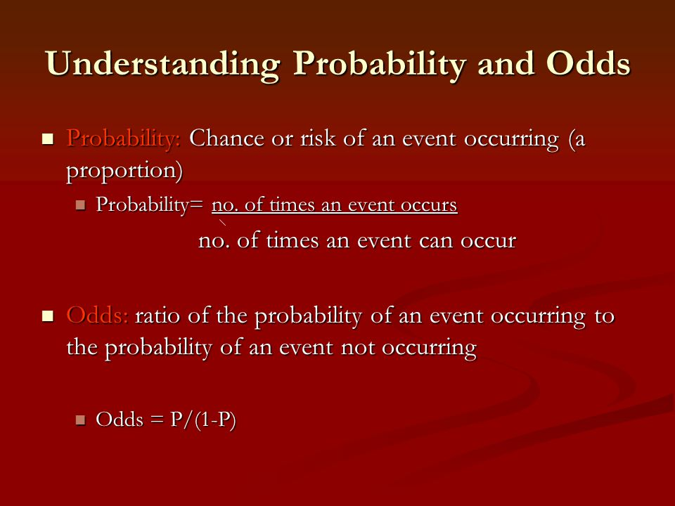 Understanding Probability and Odds