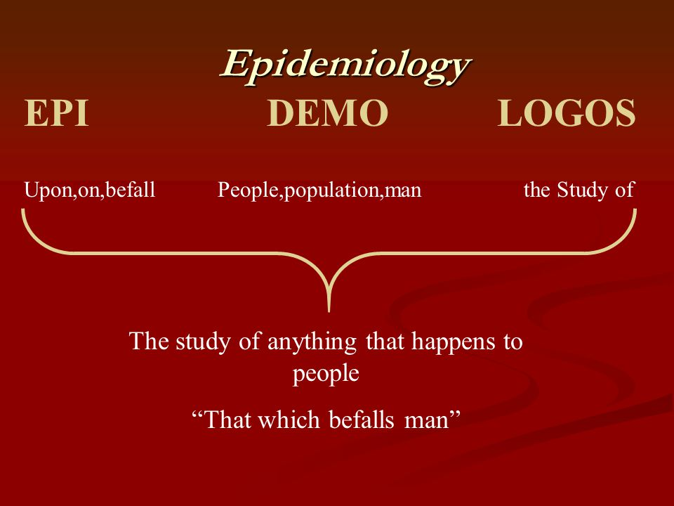 Epidemiology EPI DEMO LOGOS