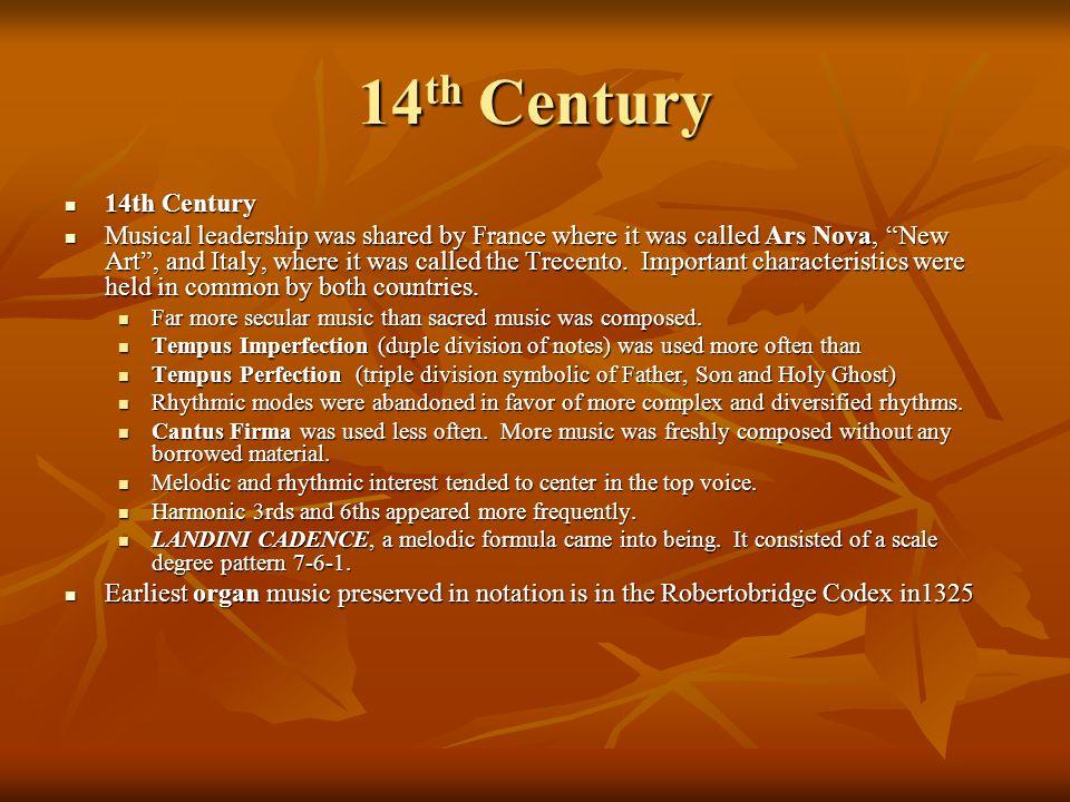 14th Century 14th Century.
