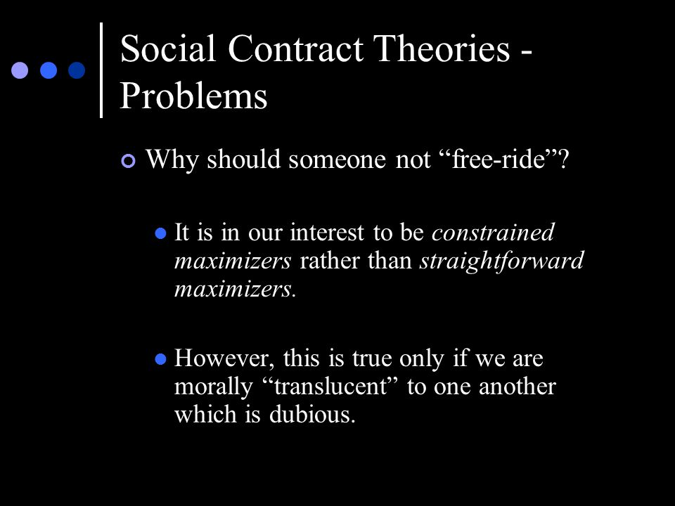 Social Contract Theories - Problems