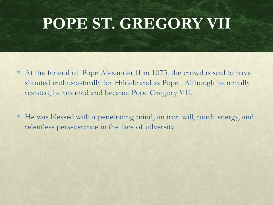 POPE ST. GREGORY VII