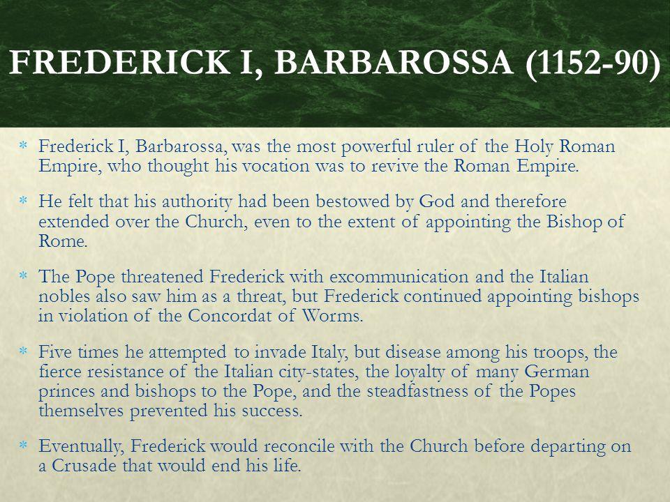 FREDERICK I, BARBAROSSA (1152-90)