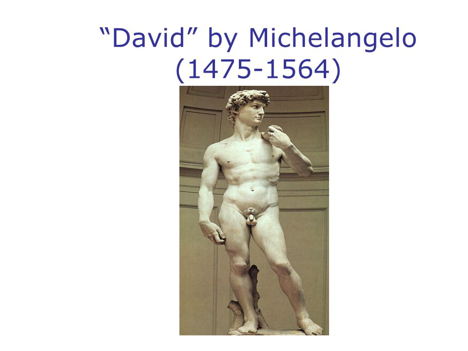 David by Michelangelo (1475-1564)