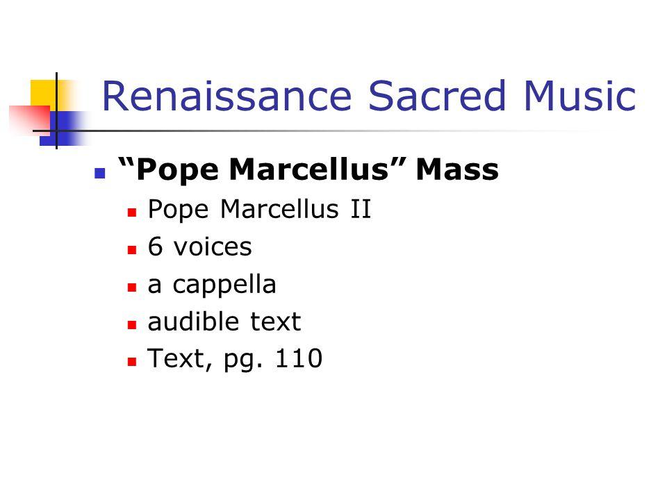 Renaissance Sacred Music