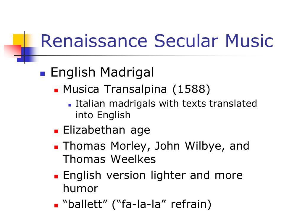 Renaissance Secular Music