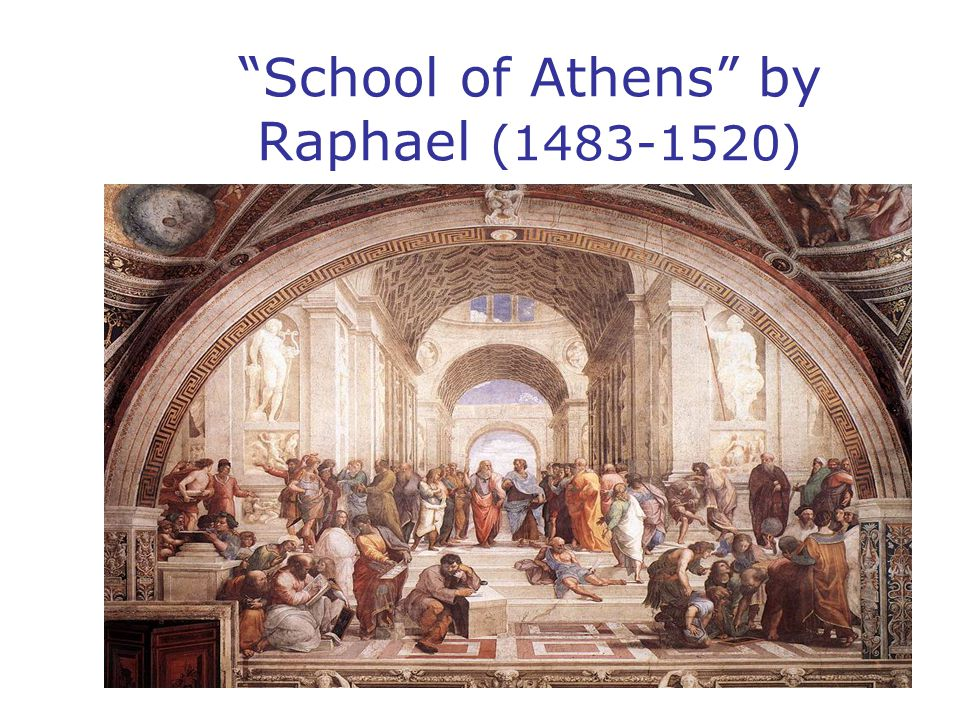 School of Athens by Raphael (1483-1520)
