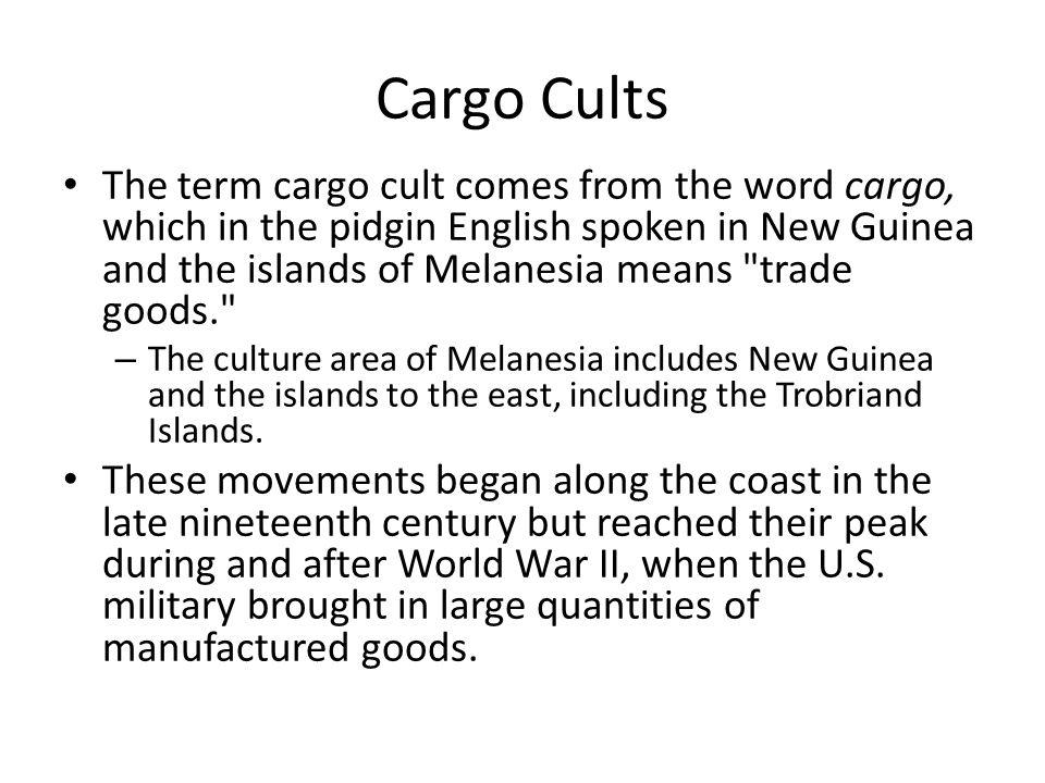 Cargo Cults