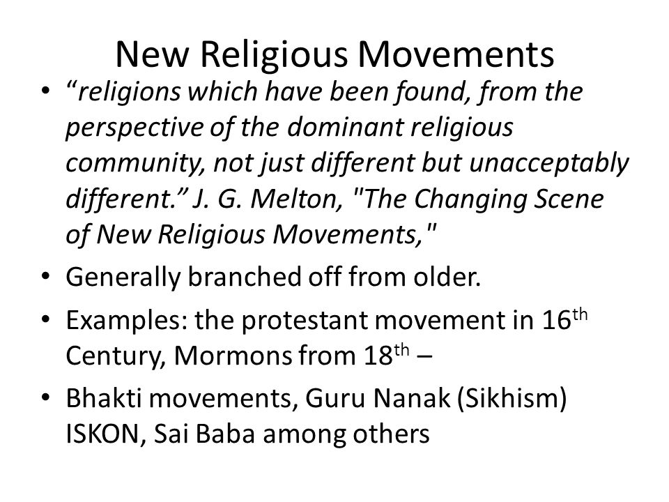 essays on new religious movements To construct the cambridge companion to new religious movements, volume  editors olav hammer and mikael rothstein have solicited brand new essays.