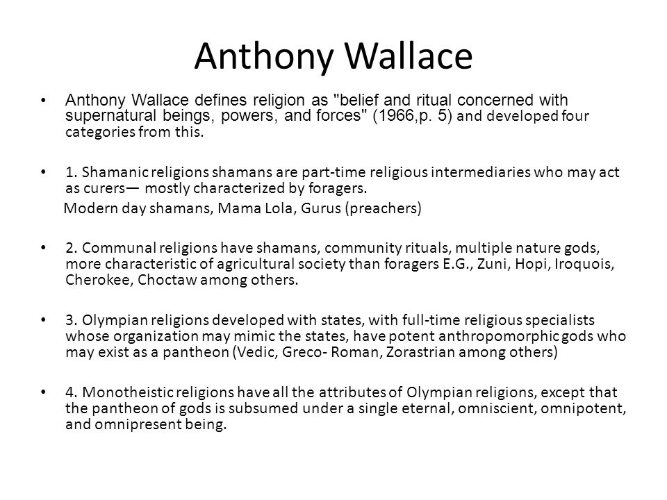 Anthony Wallace