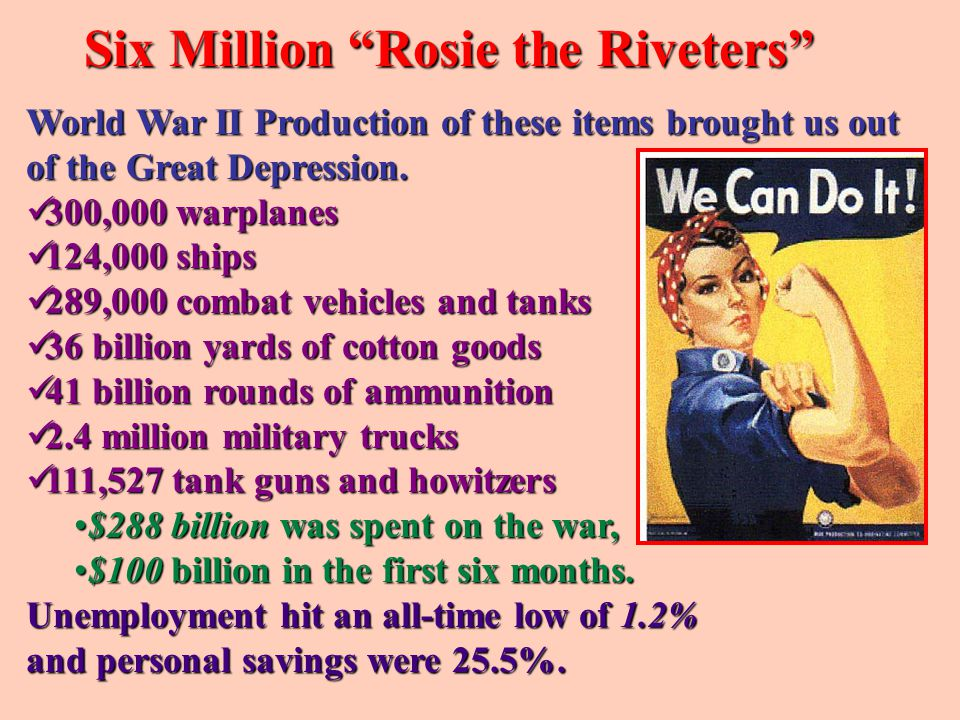 Six Million Rosie the Riveters