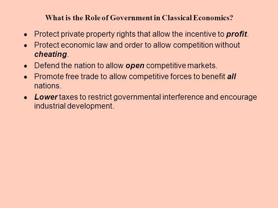 What is the Role of Government in Classical Economics