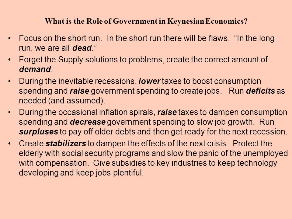 What is the Role of Government in Keynesian Economics