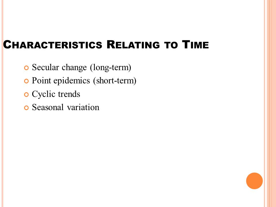 Characteristics Relating to Time