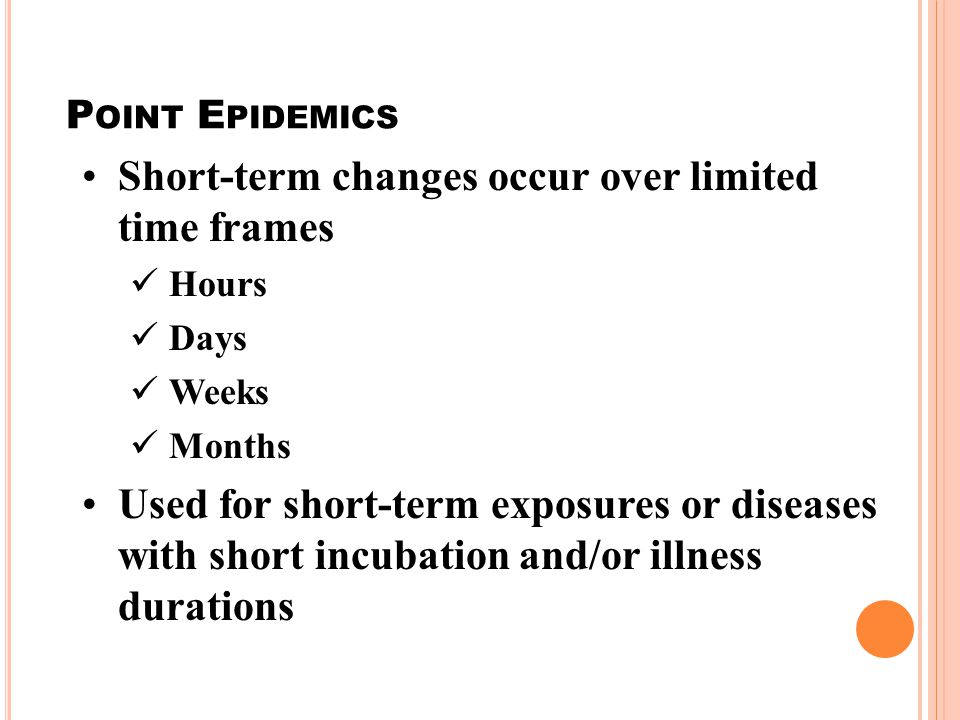 Short-term changes occur over limited time frames