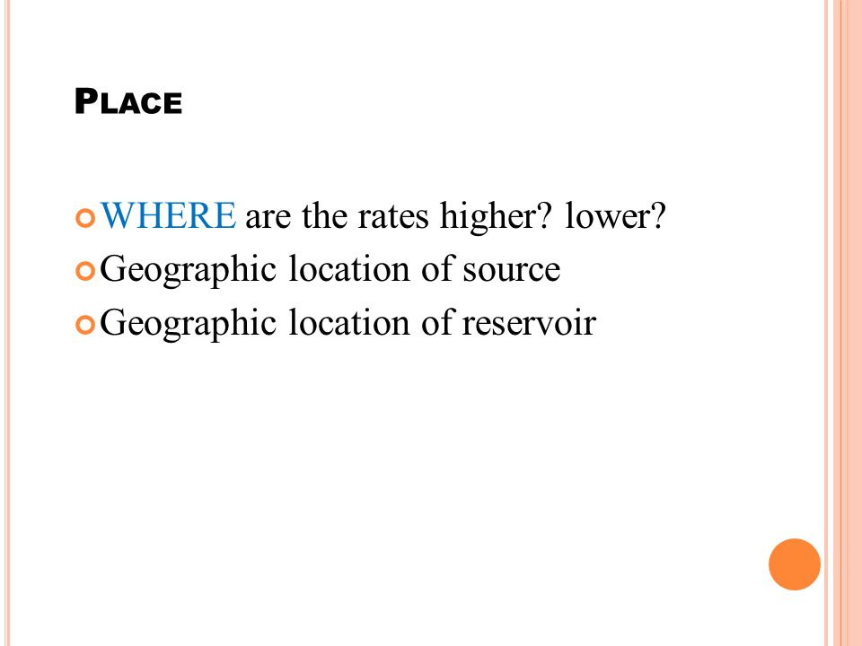 WHERE are the rates higher lower Geographic location of source