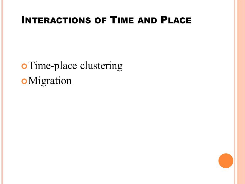 Interactions of Time and Place