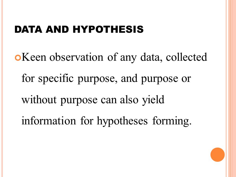 DATA AND HYPOTHESIS