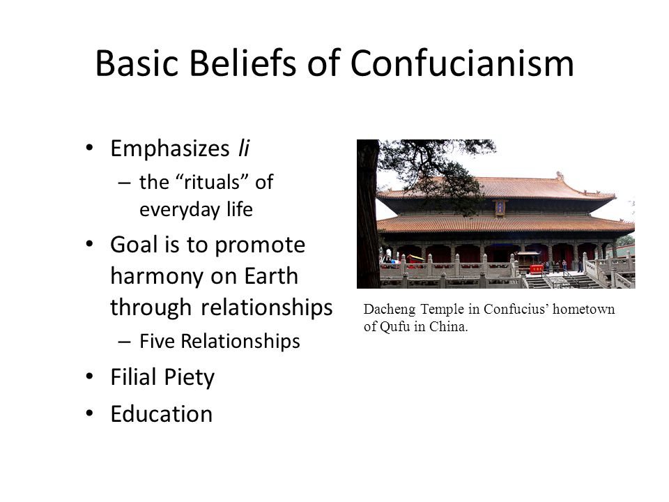 Basic Beliefs of Confucianism