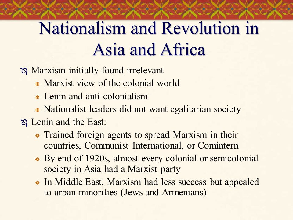 Nationalism and Revolution in Asia and Africa