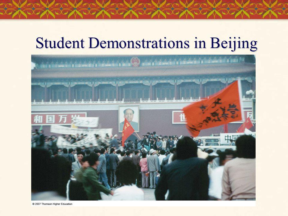 Student Demonstrations in Beijing