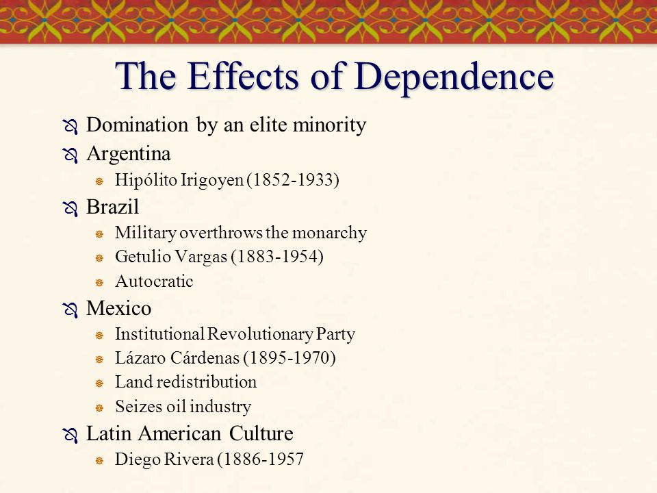 The Effects of Dependence
