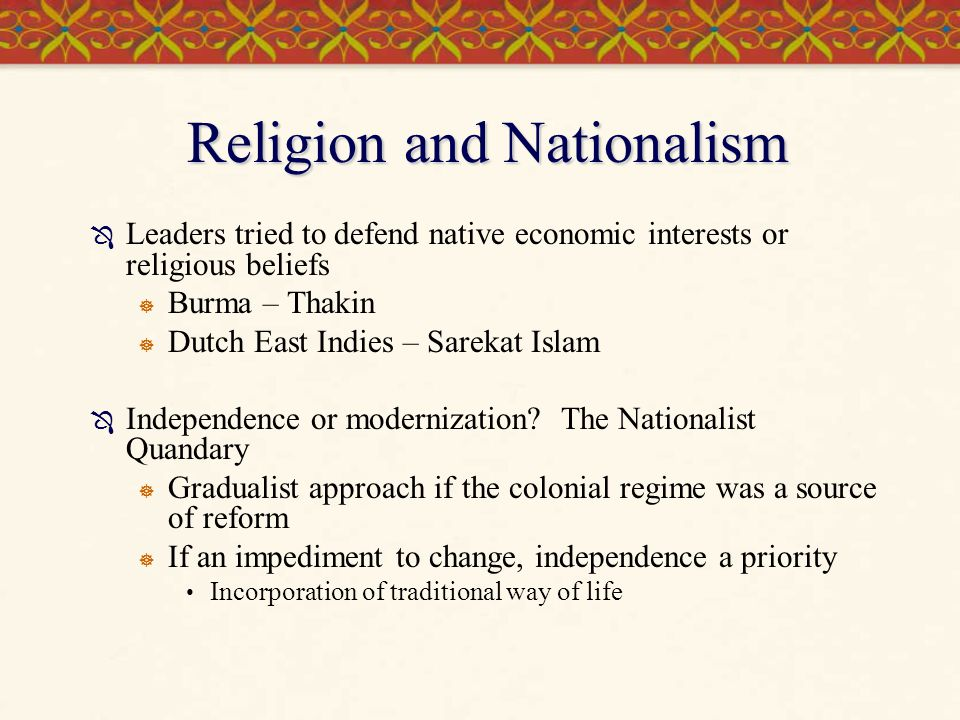 Religion and Nationalism