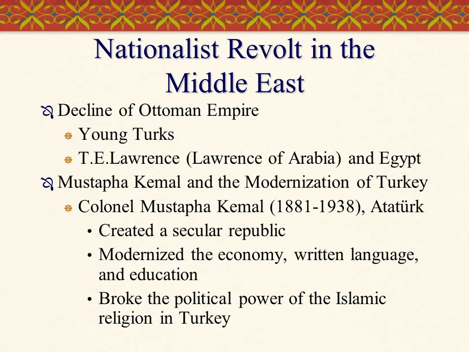 Nationalist Revolt in the Middle East