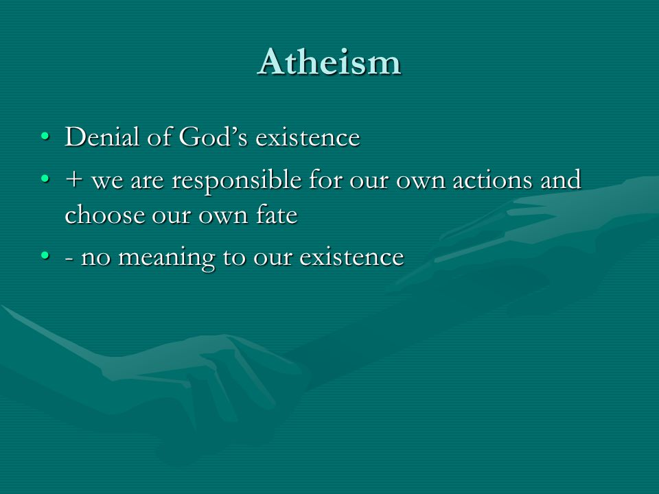 Atheism Denial of God's existence