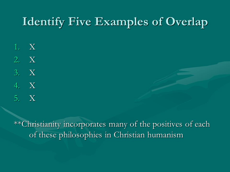 Identify Five Examples of Overlap