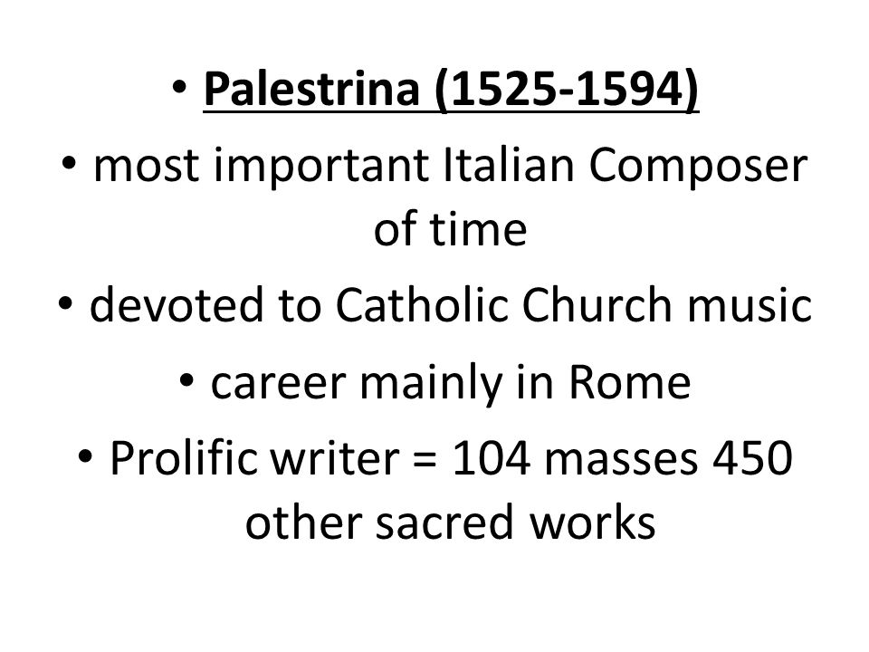 most important Italian Composer of time