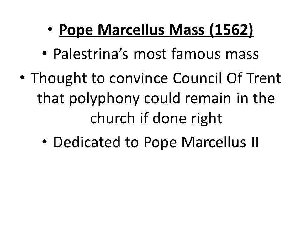 Palestrina's most famous mass
