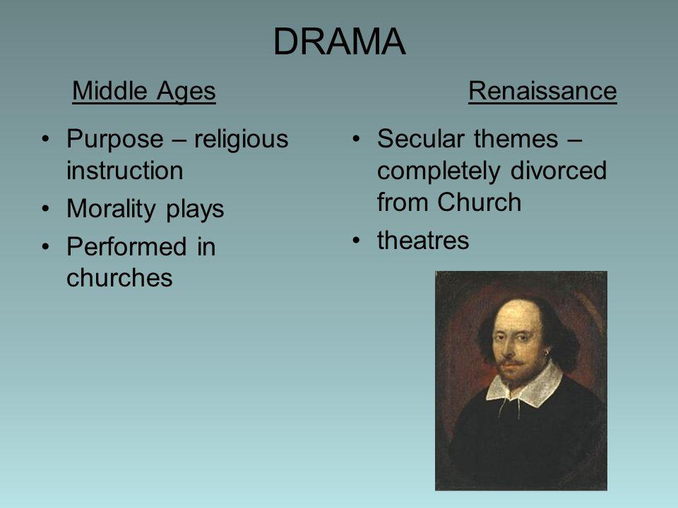 DRAMA Middle Ages Renaissance