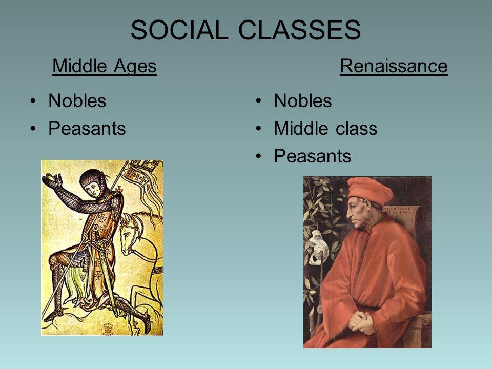 SOCIAL CLASSES Middle Ages Renaissance