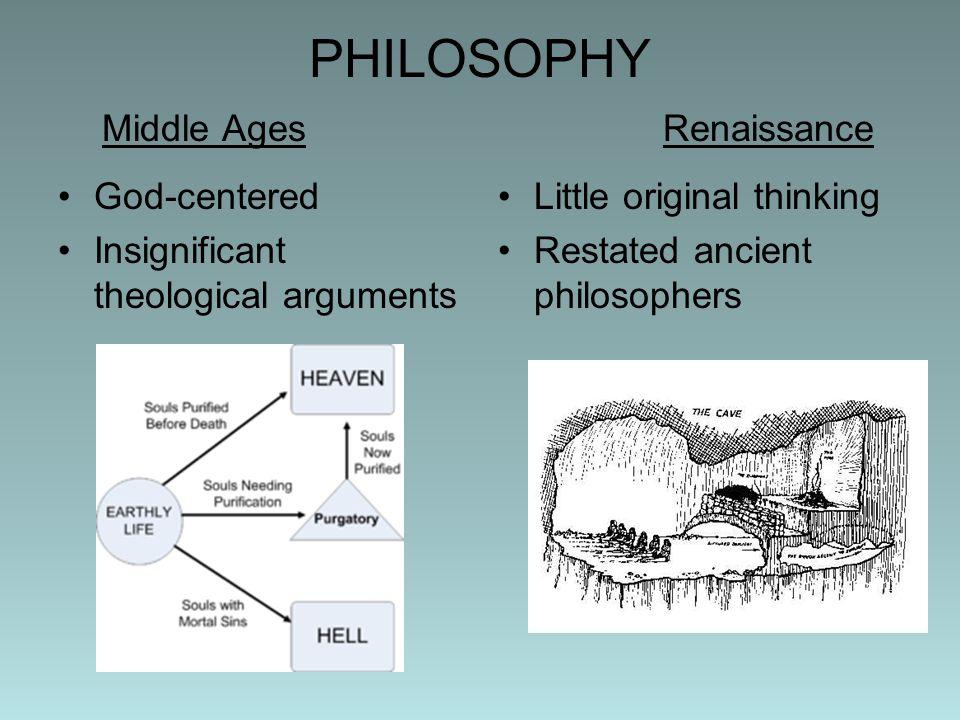 PHILOSOPHY Middle Ages Renaissance