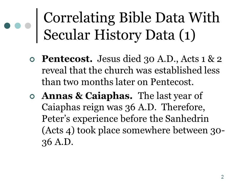 Correlating Bible Data With Secular History Data (1)