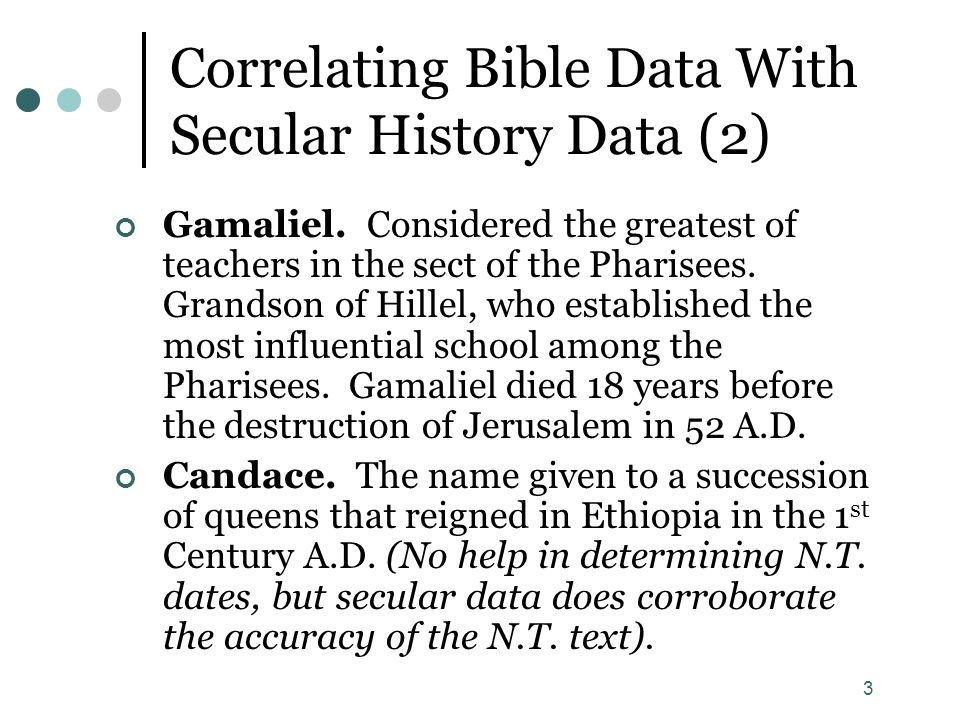 Correlating Bible Data With Secular History Data (2)